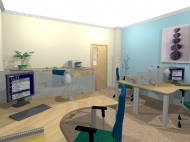 3d visualisation of small interior project