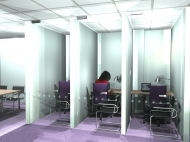 3d visuals of quiet booths