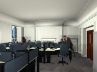 3d render of office refurbishment