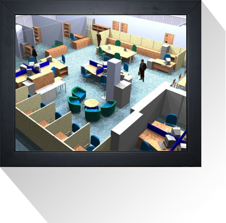 Office design services from space planning uk office for Office space planning