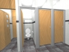 3d modelling of refurbished toilet facilities